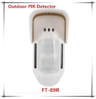 цена на FC-89 Wireless Outdoor Dual infrared+ dual Microwave PIR Sensor Outdoor Perimeter Alarm Pet immunity PIR Detector Sensor