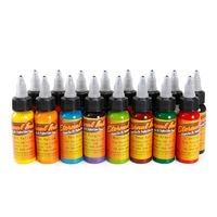 30ml Bottle Tattoo Ink Set Microblading Permanent Makeup Art Pigment 16 PCS Cosmetic Tattoo Paint For