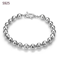 Genuine Real Pure Solid 925 Sterling Silver Bracelets Bangles For Women Fine Jewelry Female Wristband Hand