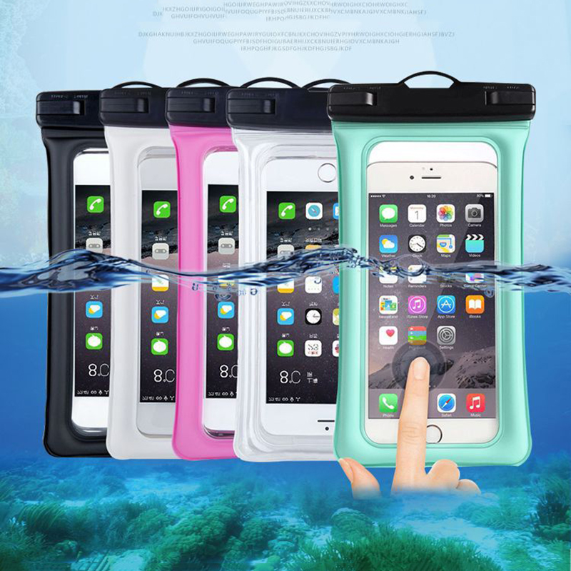 Float Airbag Waterproof Swim Bag For <font><b>HomTom</b></font> <font><b>C8</b></font> R17 S8 S17 HT20/HT20 Pro HT37/HT37 Pro HT50 Phone Case Universal Diving Dry Pouch image