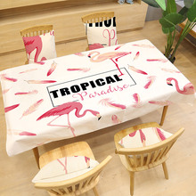 Beautiful Flamingo Pattern Tablecloth Printing Rectangular Table Cloth Dining Table Cover Kitchen Home Decor Hotel Textile xenon lampx7 80 170 for laser beauty machine 7x170mm