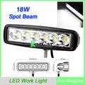 """6 """"Slim 18 W 6X3 W LED Trabajo Luz Spot Beam ATV 4X4 Off-Lámpara de Luz de carretera, comercio al por mayor IP67 Epsitar timonería Niebla 4WD Del carro Del Coche LED"""