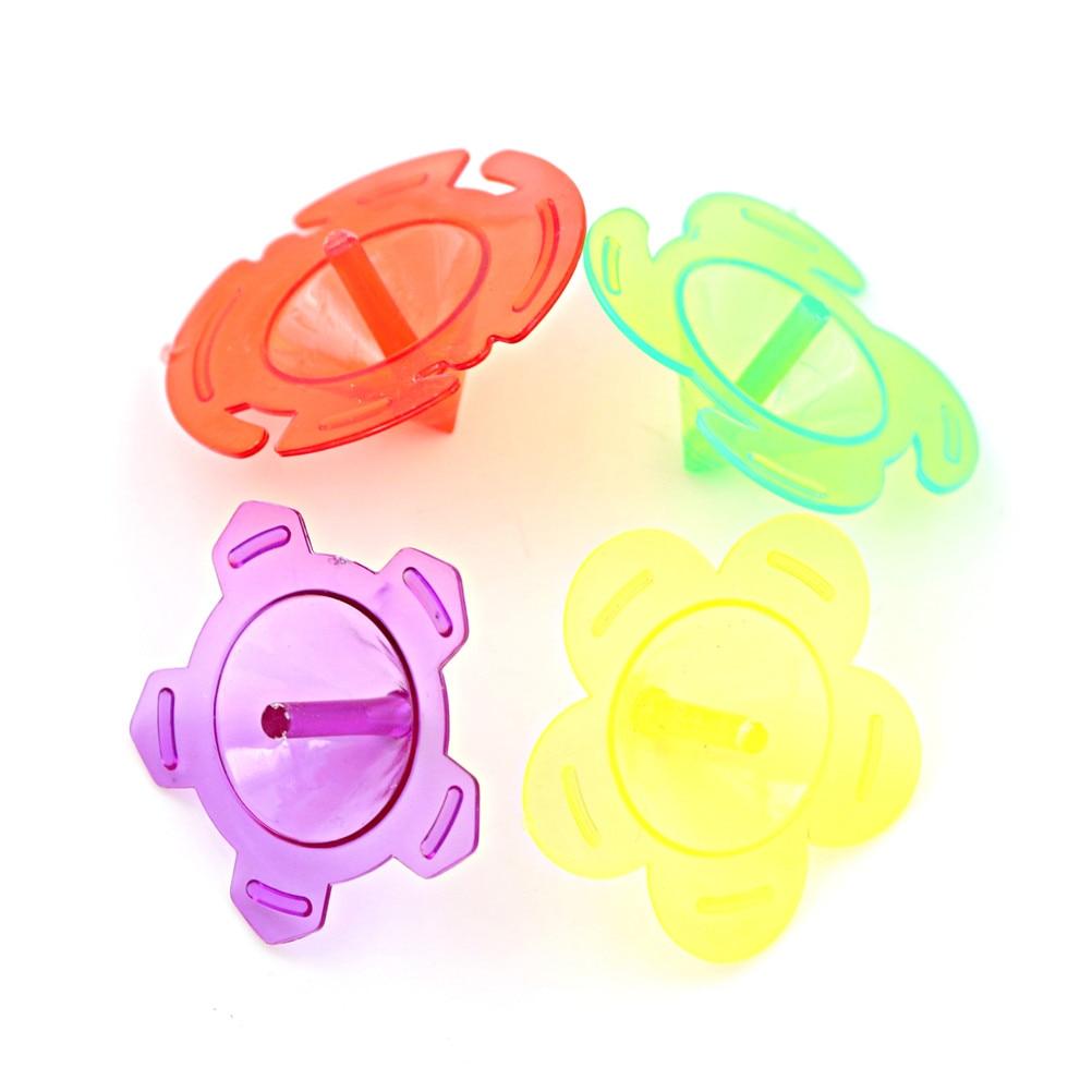CoöPeratieve 10 St Plastic Mini Top Spinning Kleuterschool Enkele Fidget Spinner Hand Spiner Gyro Outdoor Speelgoed Collectie Decor Verjaardagscadeautjes