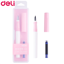 Deli blue ink fountain pen A906 pupils smooth calligraphy Gift Boxed with changeable bag iraurita