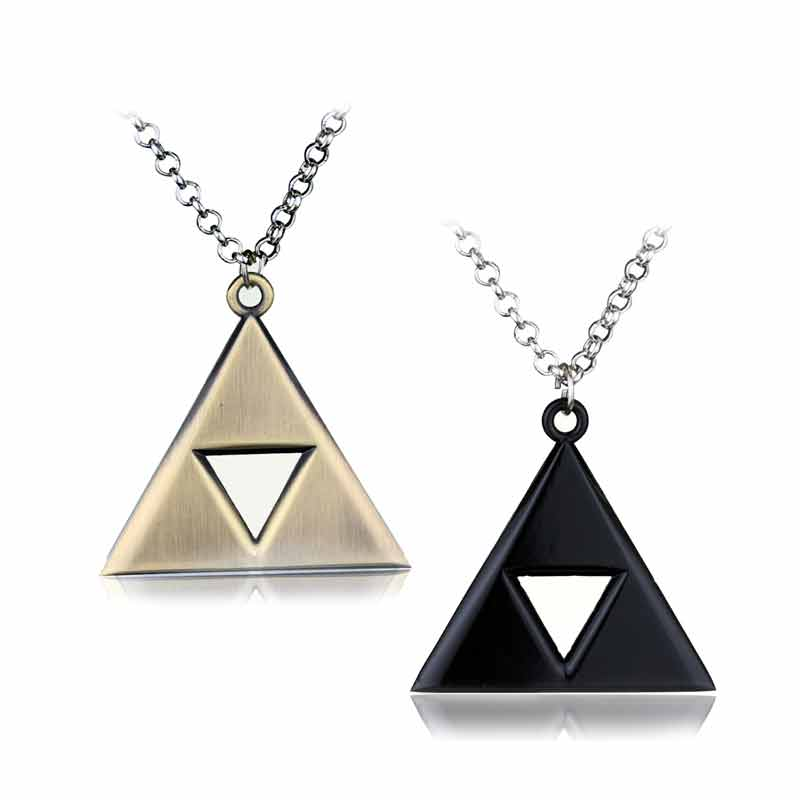 The Legend of Zelda Triforce Triangle Alloy Pendant Necklace High Quality Gift For Women Man Fashion Accessories Game Jewelry