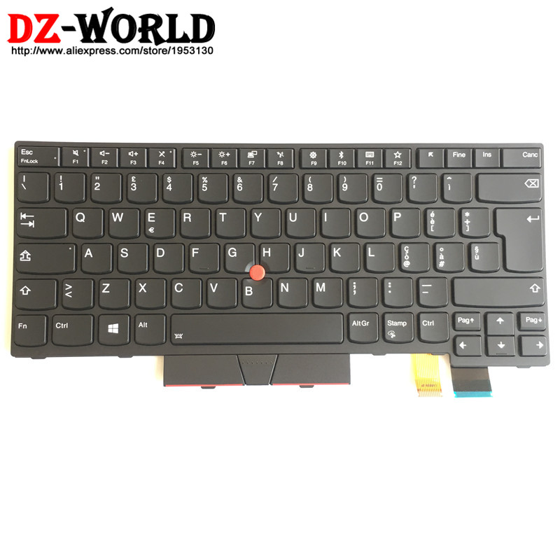 New Orig IT Italy Ttalian Backlit Keyboard for Thinkpad T470 A475 T480 A485 Backlight Teclado 01AX586