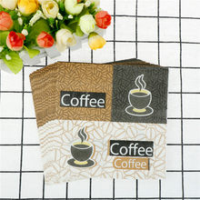 20pcs/pack Table Napkins Paper Coffee Handerchief Decoupage Wedding Birthday Party Cafe Decoration Cup Mat(China)
