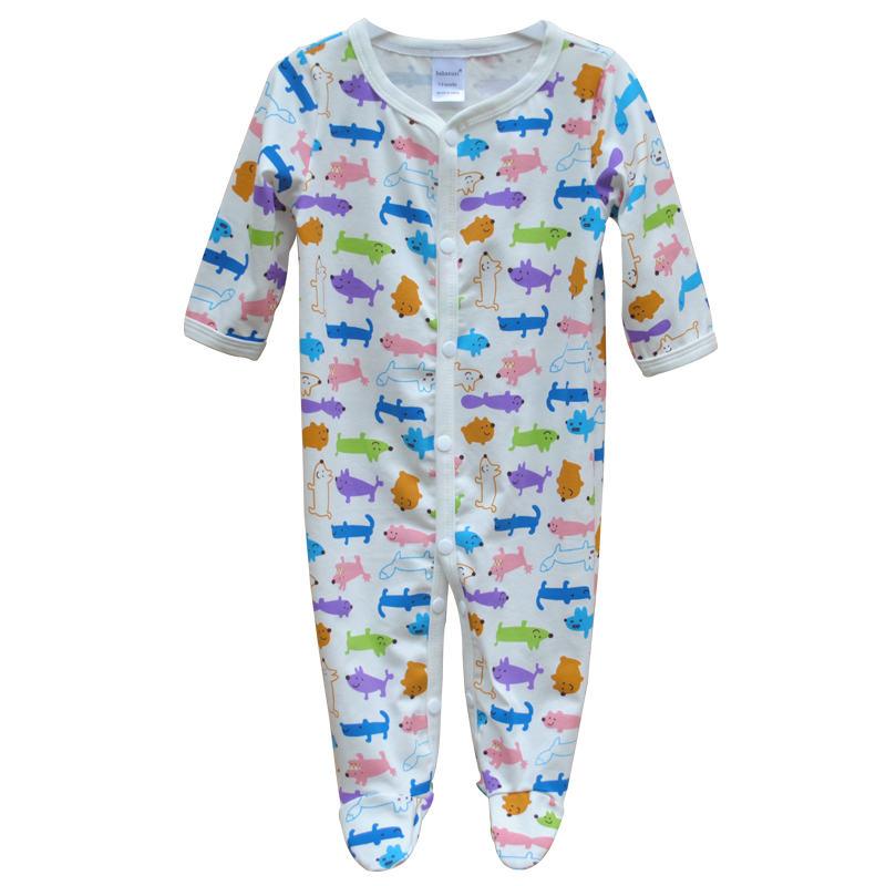 New Born Baby Clothes Baby Boys Girls Footed Clothing Baby Romper Clothes Cotton Cartoon Sleep&Play Clothes Baby Pajamas Newborn
