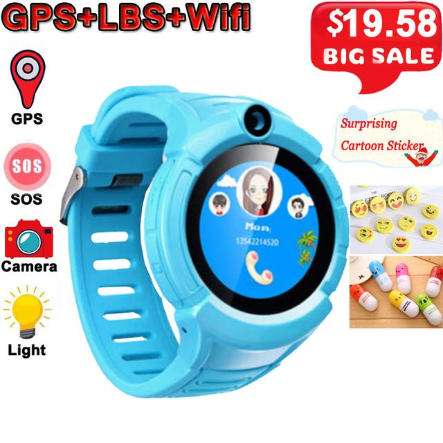 Q360 Kids Smart Watch Camera GPS WiFi Location Smartwatch Children SOS Anti-Lost Monitor Tracker Baby Wristband Watch Kids Gifts