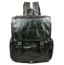 Luxury Vintage Fashion Casual Genuine Oil Wax Leather Cowhide Men Women Travel Backpack Backpacks Shoulder Bag Bags Schoolbag