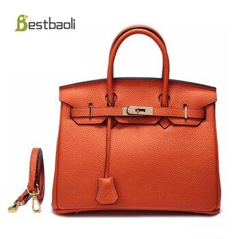 6475d76e4 Bestbaoli moda mujer bolsos de hombro de cuero genuino de las mujeres bolsa  de bolsos de las mujeres bolsos de diseñador señoras Bolsas femenina