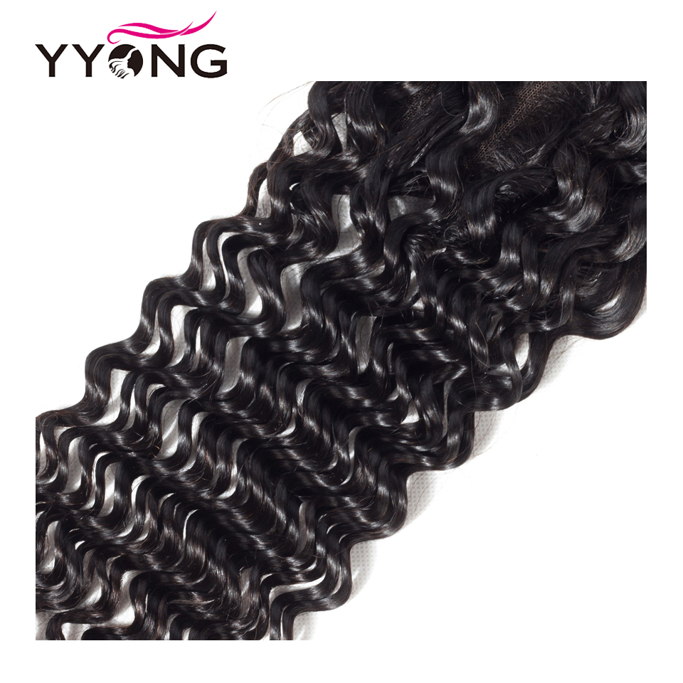 Yyong  Deep Wave Closure 4*4 Swiss Lace Free/Middle/Three Part  Natural Color  8-22 inches 5