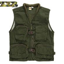 Cotton Spring And Autumn Multi-pocket Men's Professional Photography Vest Mountaineering Fishing Army Militaryvest Hiking Vest