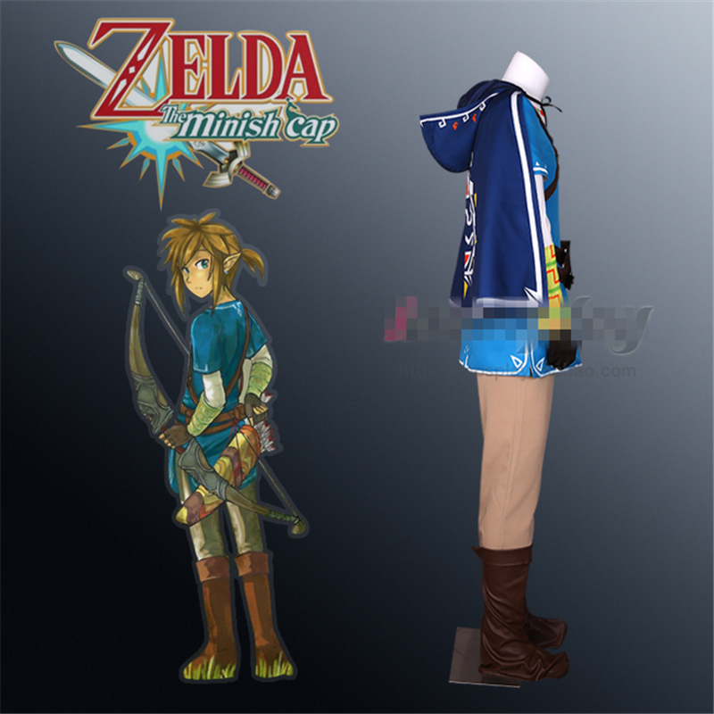 US $122 63 13% OFF|Custom size The Legend of Zelda Breath of the wild Zelda  link cosplay costume full set uniform Carnival Masquerade Anime outfits-in