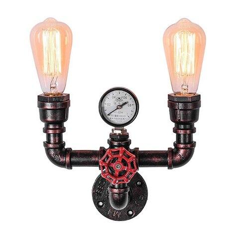 tubulacao de agua luz parede ferro industrial do vintage ferrugem luz retro luzes do corredor