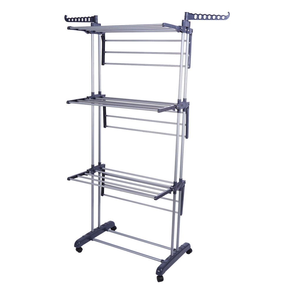 1Pcs Roller Type Foldable Clothes Towels Hanger Shelf Standing Garment Rack Organizer Home-in Towel Racks from Home Improvement on AliExpress - 11.11_Double 11_Singles' Day 1