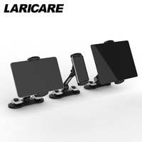 LARICARE Aluminum Tablet Phone Stand Holder Champ For Ipad Phone Rotatable Adjustable Tablet Support Car Stand