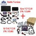 DHL Versão V2.10 KESS V2 Firmware V3.099 Estável) + KTAG K-TAG V2.10 (Firmware V5.001) não Tokens Limitação Ferramenta de Programação ECU