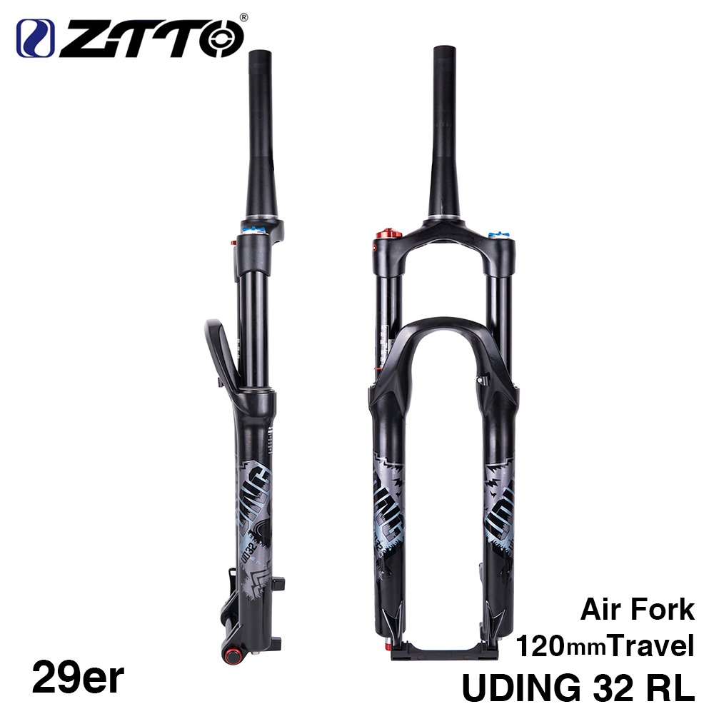 UDING 32 RL 120mm Air 29 29er Inch Fork Suspension Lock Straight Tapered Thru Axle QR Quick Release for MTB Bicycle
