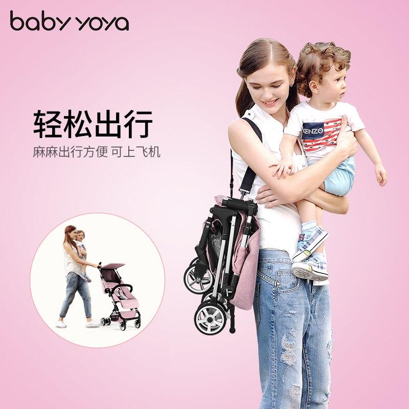Babyyoya 4.8 kg ultra-leggero passeggino pieghevole portatile strolly mini ombrello tascabileBabyyoya 4.8 kg ultra-leggero passeggino pieghevole portatile strolly mini ombrello tascabile