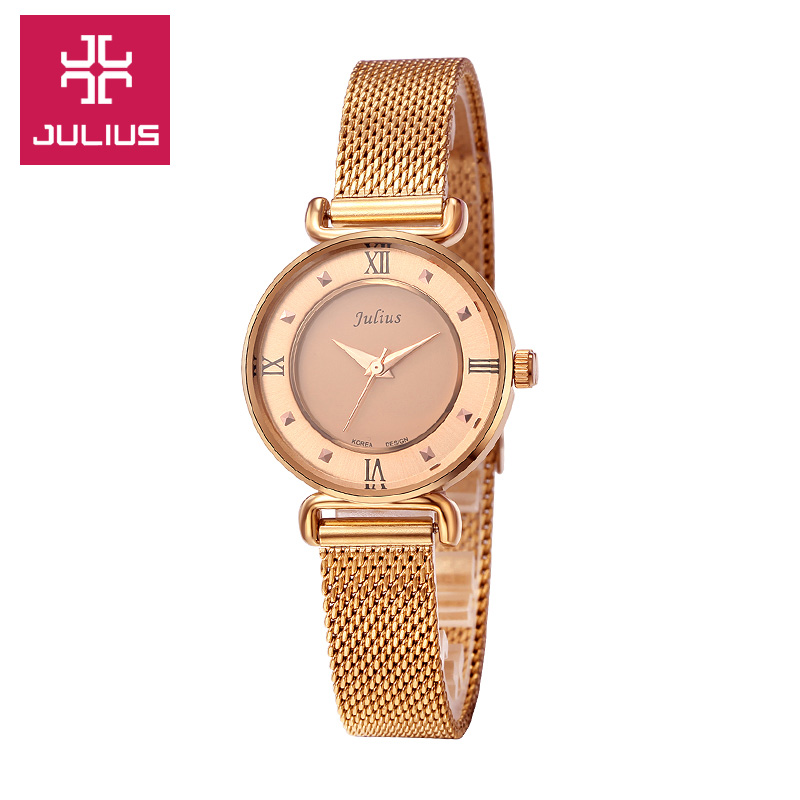 Julius Lady Woman Watch Quartz Hours Best Fashion Dress Bracelet Steel Band Roman numerals Girl Birthday