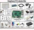 Raspberry Pi 3 Modelo B Starter kit-placa de ensaio/pi preto case/1602 LCD/adaptador WI-FI/motor de passo/motor power fornecer