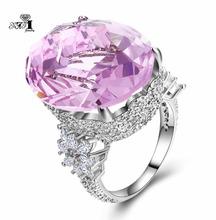 YaYI biżuteria moda księżniczka Cut 18*22mm ogromne 16 CT różowy cyrkon kolor srebrny pierścionki zaręczynowe obrączki ślubne pierścienie party pierścionki tanie tanio TRENDY Geometryczne HR462 Zaręczyny 10mm Zespoły weselne yayi jewelry Miedzi Kobiety Prong ustawianie Cyrkonia Good Mood