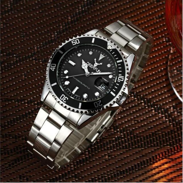 57d9dd8a2ef DEERFUN Top Relógios Homens Esportes Relógios de Quartzo relógio de Aço  Inoxidável de Luxo Da Marca