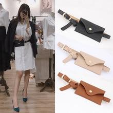 Women Belt Ceinture Bag Fashion Trend Solid Color PU Leather Waist Fanny Packs Phone Money Pouch For Dress