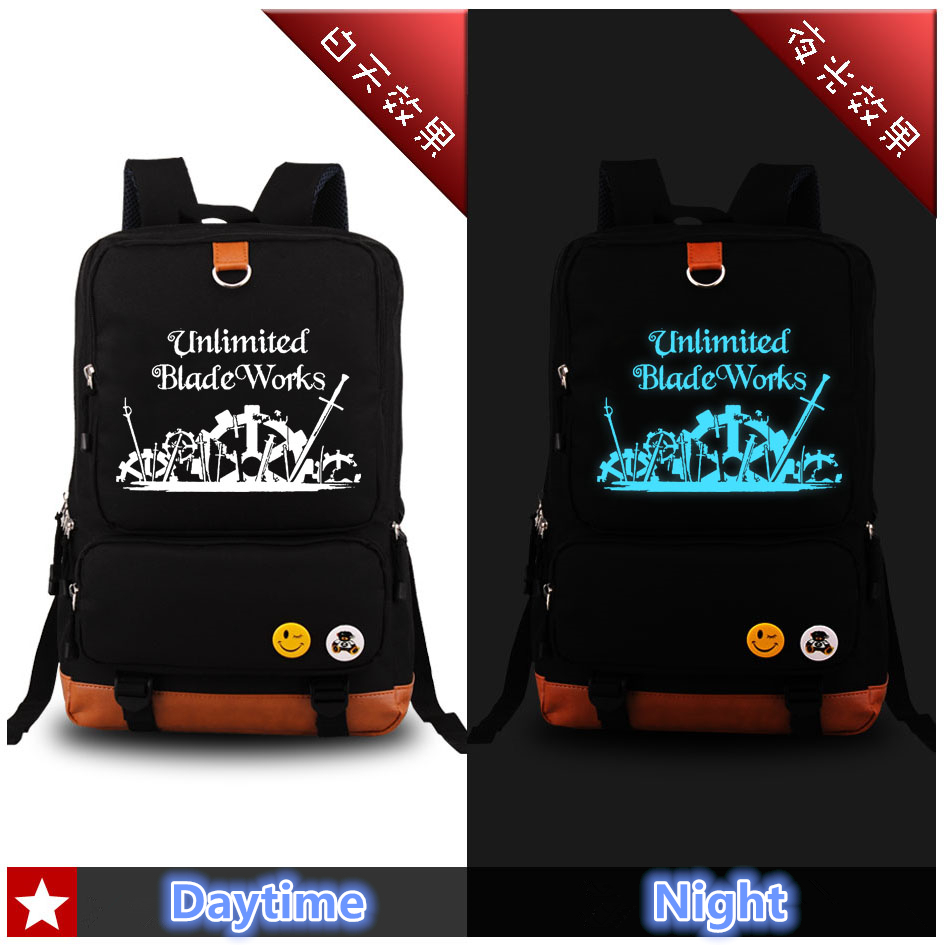 Anime Fate Stay Night Luminous Backpack Cosplay Unlimited Blade Works Archer Fashion School Bags Bookbag laptop Shoulder Bags sosw fashion anime theme death note cosplay notebook new school large writing journal 20 5cm 14 5cm