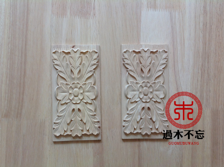 Wood onlays and appliques carved wood