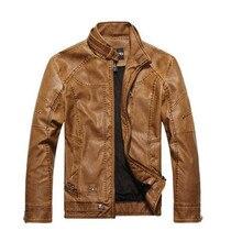 2017 fashion motorcycle leather jackets  Leather Jackets Men Autumn Winter