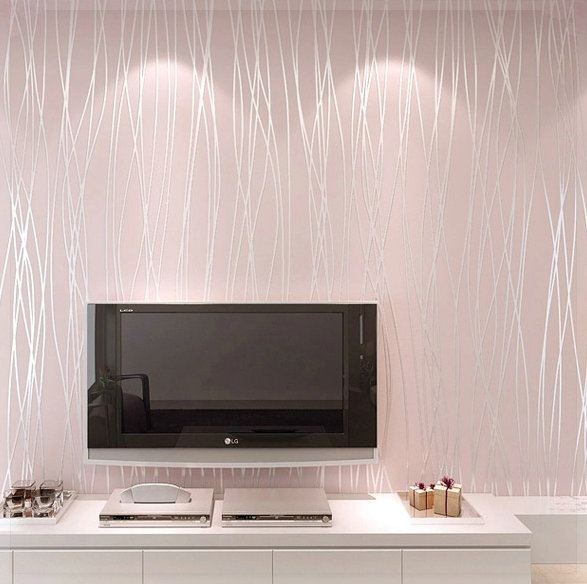 Non Woven Wallpaper Plain Minimalist Living Room Warm And Solid Vertical Striped Bedroom TV Backdrop Tapete In Wallpapers From Home