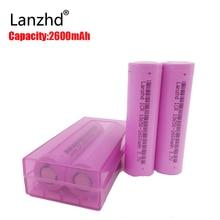 4PCS Real Full 2600MAH Capacity rechargeable 18650 Battery 3.7v rechargable batteries Li-ion Battery 18650 Battery