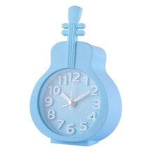 Candy Color Alarm Clock Child Student Bedside Small Cartoon Violin Electronic Kids Cute Digital