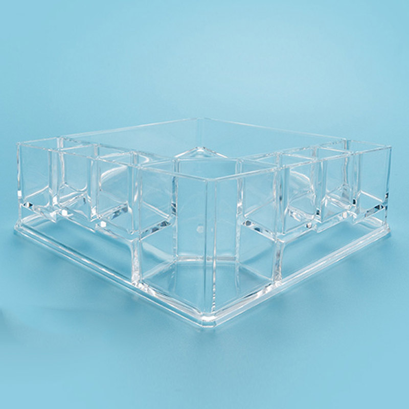 Clear Acrylic Makeup Lipstick Organizer Storage Box Desktop Holder Rack Case HS11