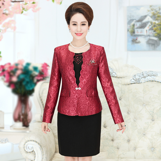 2017 Free Shipping New High Quality Middle Old Aged Mother Suit