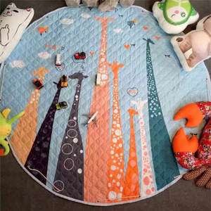 Floor-Mat Bedroom Circular Decor Children's Home for Baby 150--150cm QUILTED Hot-Sale