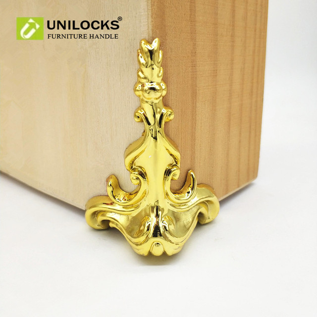 UNILOCKS 52Pcs 65mm*42mm Wood Box Gold Feet Leg Corner Protector ...