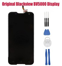 ل blackview BV5000 شاشة lcd + شاشة لمس لوحة رقمية استبدال أجزاء ل 5.0 بوصة الهاتف bv5000 للماء