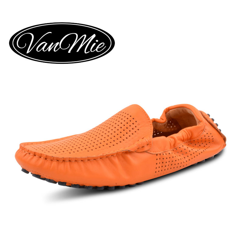 Vanmie Brand 2019 Summer Shoes Men Loafers Moccasins Casual Shoes Man Breathable Genuine Leather Flats Shoes