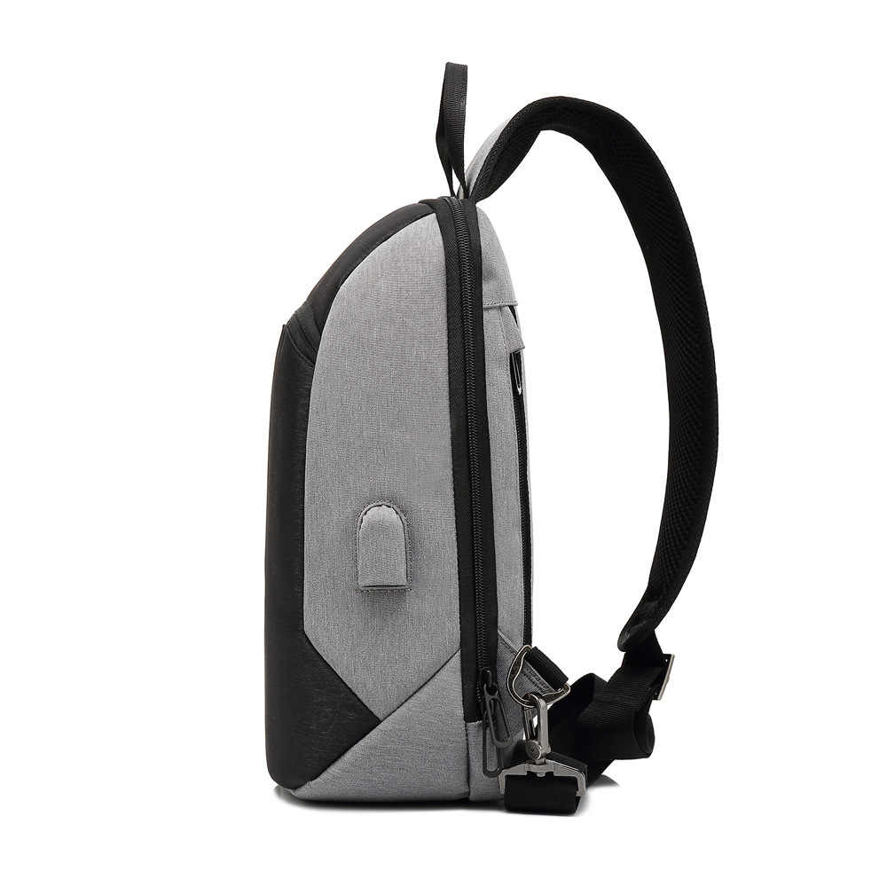 Baibu Baru Multifungsi Dada Pack Pria Tas Selempang Kasual Bahu USB Pengisian Dada Tas Anti Air Ipad Tas Messenger