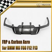 Car styling For BMW BMW M6 F06 F12 F13 Carbon Fiber V style Rear Diffuser(Rear M6) Glossy Fibre Auto Bumper Body Kit Accessories