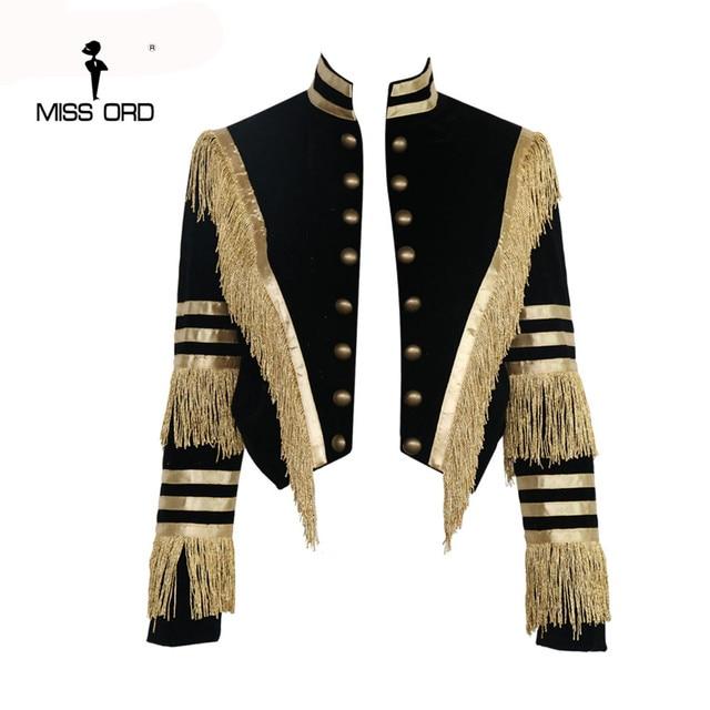 Missord 2017 с длинным рукавом кисточкой бархат пальто FT4685