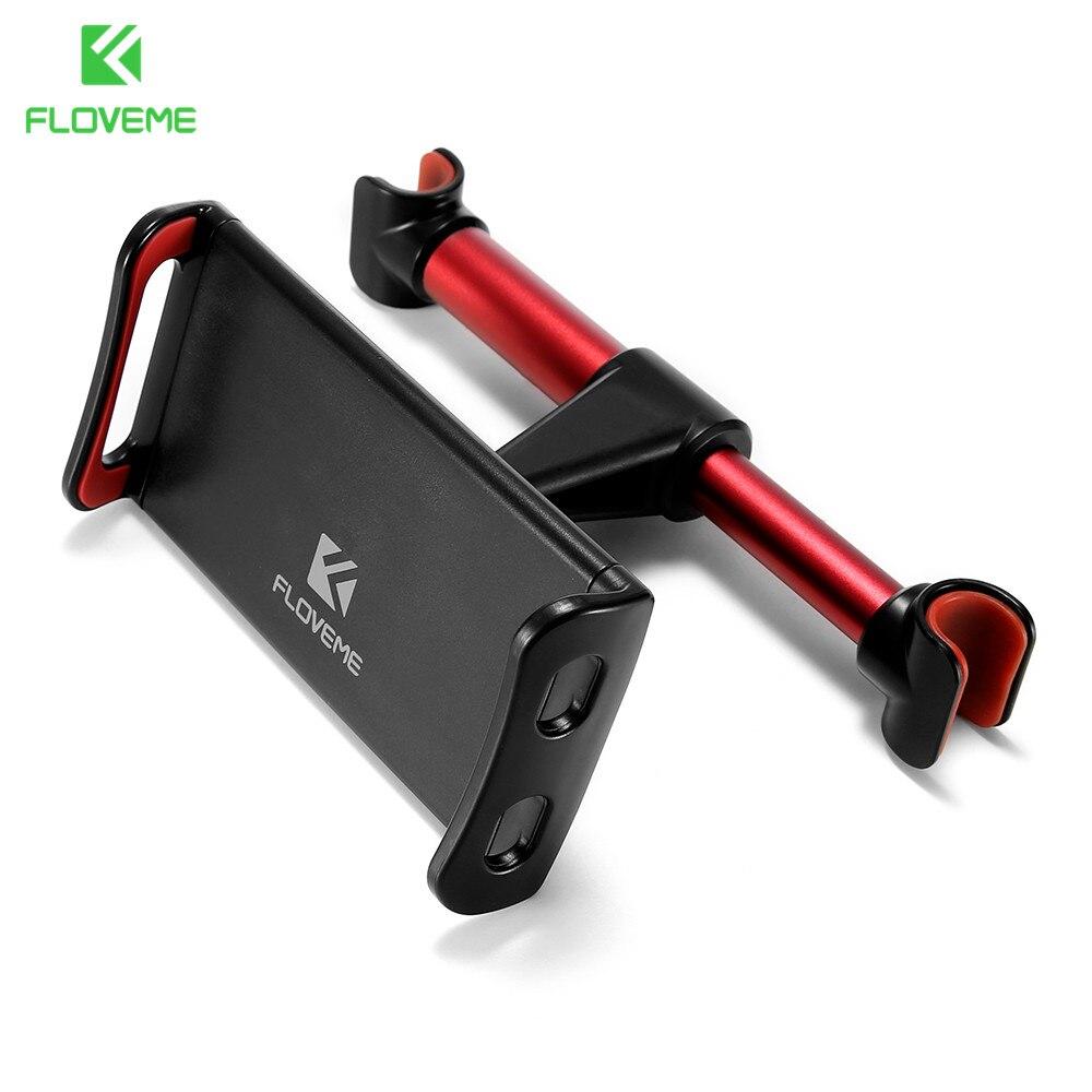 FLOVEME 4-11 zoll Legierung Auto Handyhalter Rücksitz Tablet Halterung 3 in 1 Combo 360 Grad Auto Halter Für iPhone X 8 iPad mi Pad