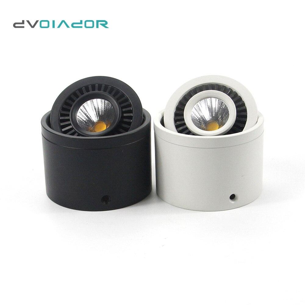 DVOLADOR Dimmable Surface Mounted LED COB Da Incasso 360 Gradi di Rotazione LED Spot Luce 15 W/9 W/7 W/5 W Lampada Da Soffitto con Driver LED