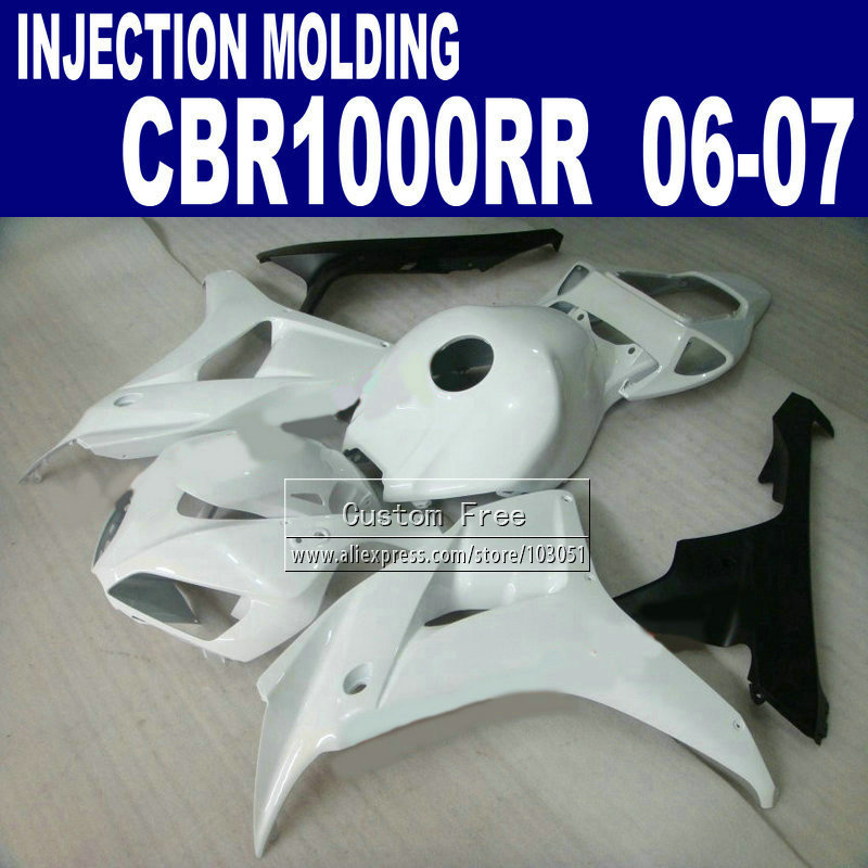 High quality Injection molding fairings parts for CBR 1000 RR 2006 2007 CBR1000RR 06 07 CBR 1000RR full white fairing bodykit