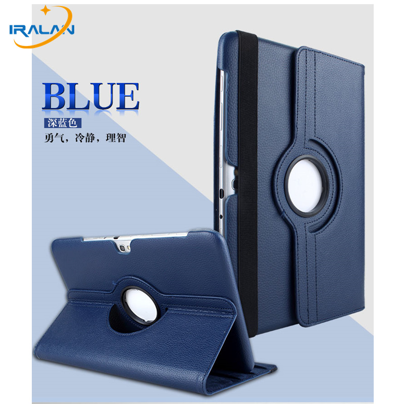 Hot wholesale 360 Degree Rotating Leather Cover case For Samsung Galaxy Note GT-N8000 N8010 N8020 10.1 inch with Shell + Stylus