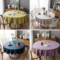 100% Polyester Tischdecken Dicken Einfarbigen Tischdecke Home Dekorative Runde Tisch Tuch Tafelkleed 4 Größen Manteles Obrus