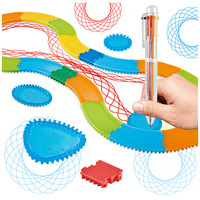 34 шт простые креативные художественные наборы детская художественная живопись трафарет трек модели образовательных игрушек рисунок Волше...